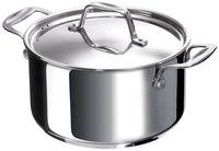 Beka Cookware Chef kookpot 24 cm van roestvrij staal met een ingekapselde sandwichbodem van 6,2 mm.