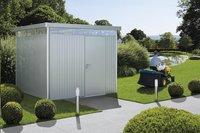 Biohort abri de jardin avec porte simple Higline gris argenté 235 x 275 cm-Image 4