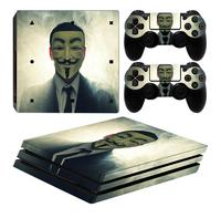 PS4 Pro skins Anonymous pour console + 2 skins pour manettes
