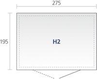Biohort tuinhuis met dubbele deur Highline zilvergrijs 195 x 275 cm-Artikeldetail