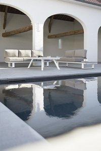 Ocean Loungeset Larida lichtgrijs/wit-Afbeelding 1