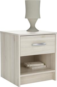 Table de nuit Borea 1 tiroir décor acacia-Image 1