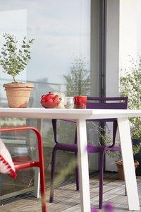 Table de jardin Nice blanc 100 x 100 cm-Détail de l'article