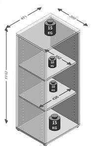 Bibliothèque Calvia 5 - 3 étagères-Détail de l'article