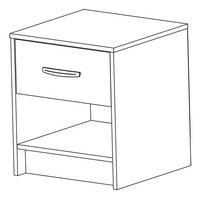 Table de nuit Borea 1 tiroir décor acacia-Détail de l'article