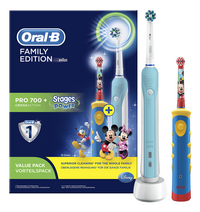 Oral-B 2 tandenborstels Family: PRO 700 + Stages Power Kids  PRO 700-Artikeldetail