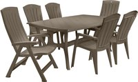 Jardin table de jardin Wellington cappuccino 184 x 103 cm-Image 1