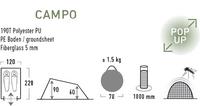 High Peak Tente pop-up Campo lime-Détail de l'article