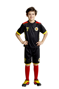 Tenue de football Belgique noir taille 128-Image 3