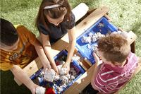 AXI table de pique-nique pour enfants Nick Sable et Eau avec parasol-Image 4