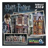 3D-puzzel Harry Potter Diagon Alley-Vooraanzicht