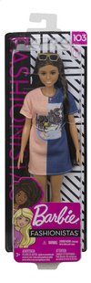 Barbie mannequinpop Fashionistas Petite 103 - Tone Graphic Dress-Vooraanzicht