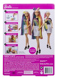 Barbie poupée mannequin  Cheveux arc-en-ciel pailleté-Arrière