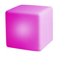Éclairage LED-cube/siège rechargeable avec haut-parleur Bluetooth blanc 40 cm-Image 2