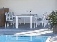 Ocean table de jardin Tokyo blanc L 220 x Lg 100 cm-Image 3