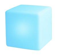Éclairage LED-cube/siège rechargeable avec haut-parleur Bluetooth blanc 40 cm-Image 3
