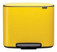 Brabantia Pedaalemmer Bo daisy yellow 3 x 11 l-Vooraanzicht