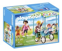 PLAYMOBIL Family Fun 70093 Familiefiets-Linkerzijde