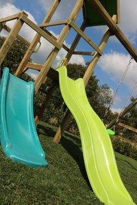 BnB Wood portique Little Eden Duo avec toboggans Lime et turquoise-Détail de l'article