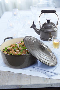 Le Creuset ronde stoofpan Tradition midnight grey 22 cm - 3,3 l-Afbeelding 1
