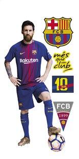 Muursticker FC Barcelona Messi-commercieel beeld