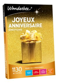 Wonderbox Joyeux Anniversaire - Émotions-Avant