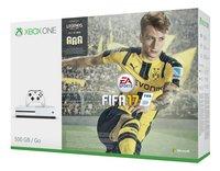 XBOX One S 500 GB + Fifa 17 met Fifa Legends-Rechterzijde
