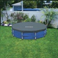 Winterafdekzeil voor zwembad diameter 4,57 m-Afbeelding 1