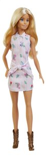 Barbie poupée mannequin  Fashionistas Original 119 - Pink Dress and Boots-Avant