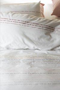 Walra Dekbedovertrek Dear Diary wit katoen 240 x 220 cm-Artikeldetail