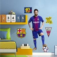 Muursticker FC Barcelona Messi-Afbeelding 1
