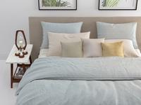 Zo! Home Housse de couette Lino coton vert menthe 260 x 220 cm-Image 2