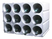 Casier à vin empilable pour 12 bouteilles long-Détail de l'article