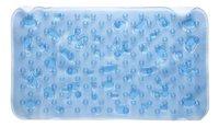 Casilin Tapis de bain antidérapant Splash bleu Lg 41 x L 72 cm