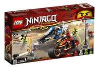 LEGO Ninjago 70667 La moto de Kai et le scooter des neiges de Zane-Côté gauche