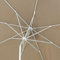 Parasol en aluminium diamètre 3,5 m taupe-Détail de l'article