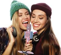 Lenco micro Bluetooth et lumières rose-Image 1