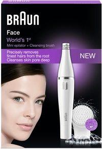 Braun Brosse nettoyante avec épilateur pour visage Face SE810-Avant