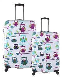 Saxoline Set de valises rigides Owls Spinner