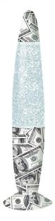 Lampe à lave Glitter Dollar gris/blanc