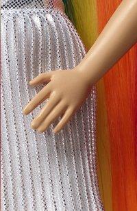 Barbie poupée mannequin  Cheveux arc-en-ciel pailleté-Détail de l'article