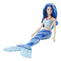 Barbie mannequinpop Dreamtopia Zeemeermin met blauw haar-Artikeldetail