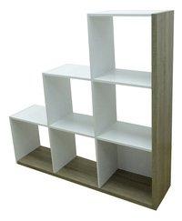 Demeyere Meubles Bibliothèque Stairs décor chêne/décor blanc-Côté droit