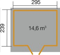 Weka abri de jardin Vinea 3 280 x 315 cm-Détail de l'article