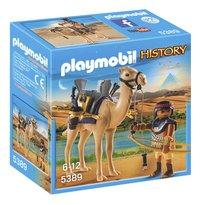 Playmobil History 5389 Egyptische krijger met dromedaris-Vooraanzicht