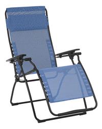 Lafuma chaise longue Futura Batyline Duo Outremer-Côté gauche