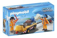 Playmobil City Action 5396 Luchtverkeersleiders met bagagetransport