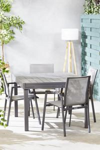 Ensemble de jardin Modulo/Bondi anthracite - 4 chaises-Image 1