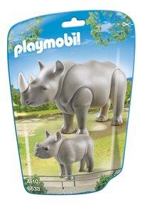 Playmobil City Life 6638 Neushoorn met baby-Vooraanzicht