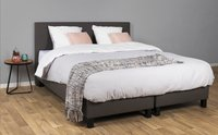 Couche Couche Vaste boxspring James lederlook antraciet-Afbeelding 1